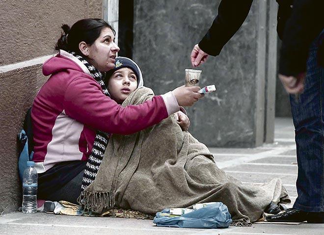 Бездомная с ребенком