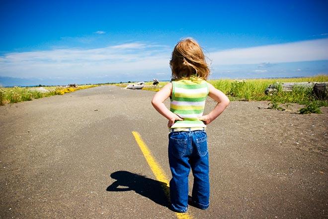 Ребёнок на дороге