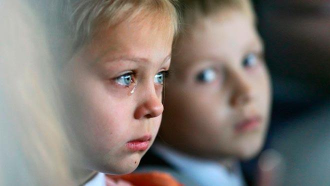 Слезы на глазах ребенка