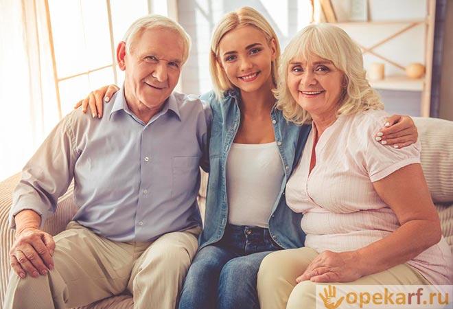 Дочь с престарелыми родителями