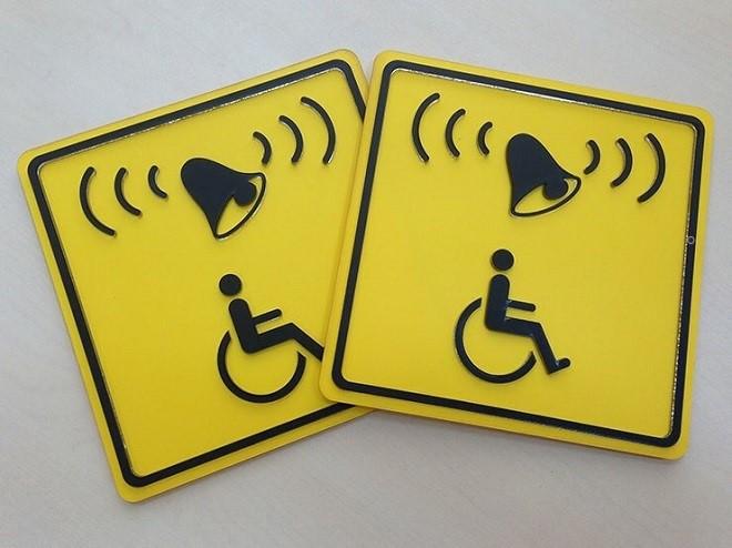 Информационные предупреждающие знаки для инвалидов